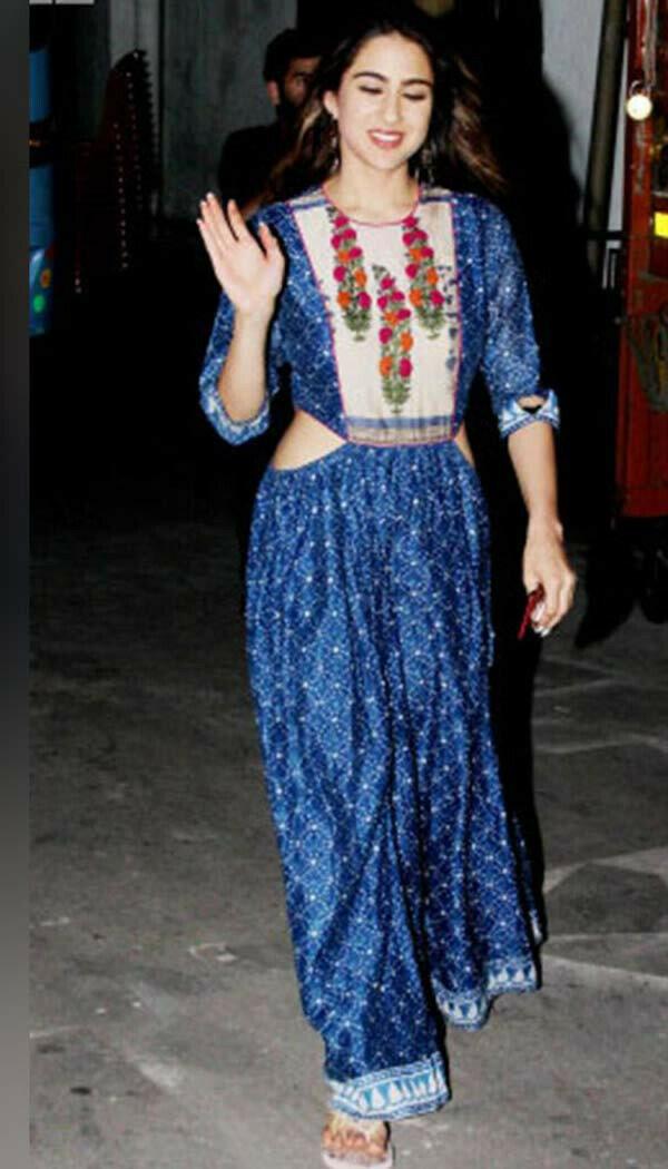 Sarra Blue Ethnic Gown (Full Stitch)