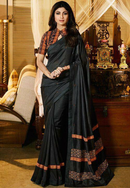 shilpa shetty Bollywood Sabhaysachi Chanderi Cotton Saree