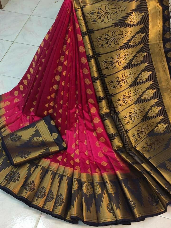 Splendid Rani Nylon Silk With Rich Pallu fancy designer saree