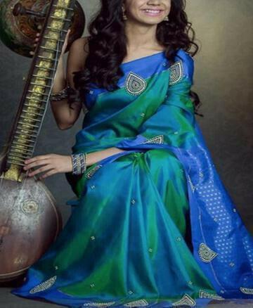 Staring Blue Color Soft Silk Designer Saree