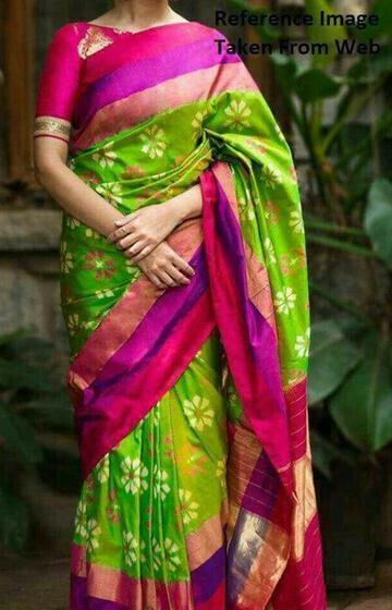 Staring Parrot Color Soft Silk Designer Saree