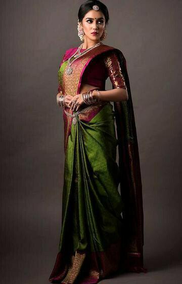Stylish Green Color Soft Silk Designer Saree