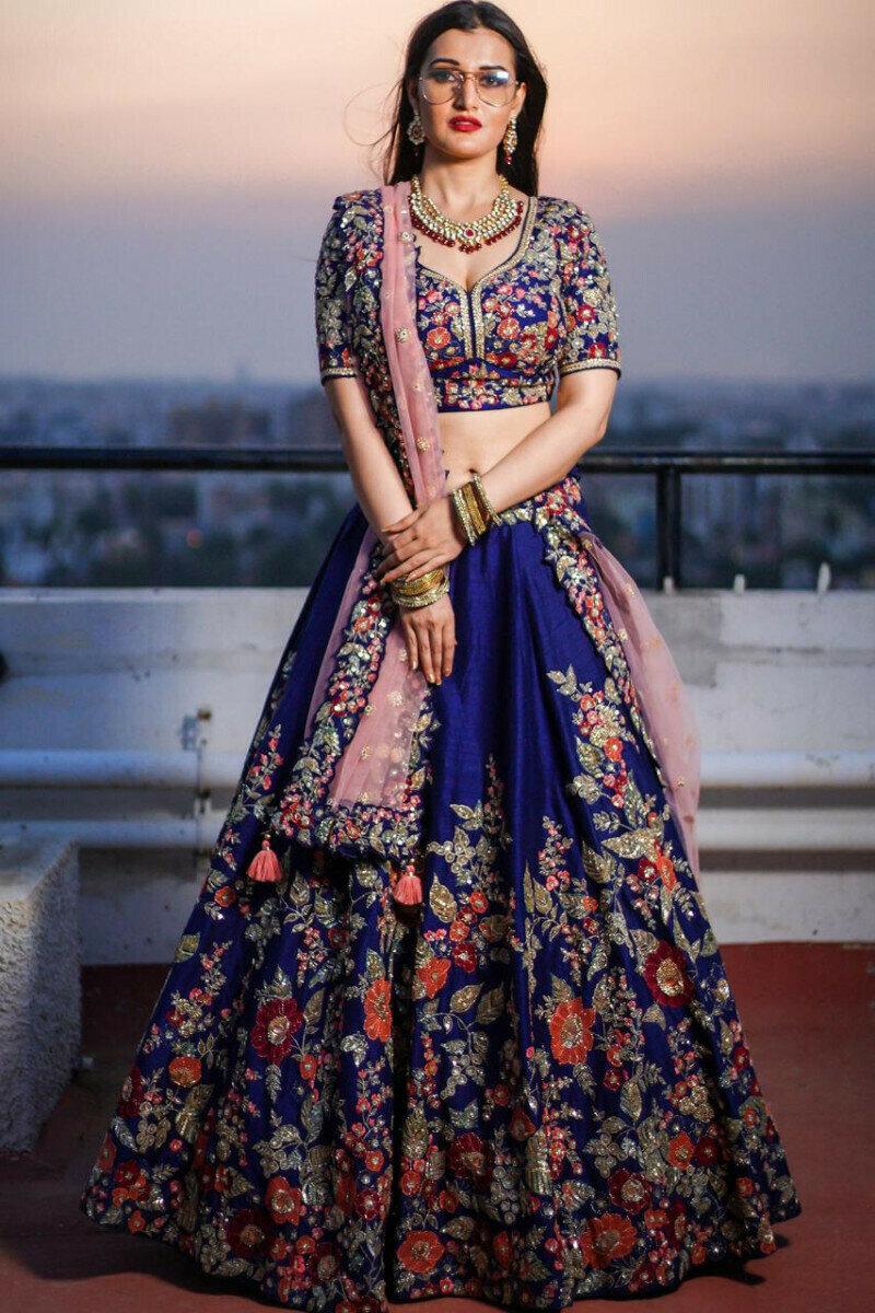 Stylist Blue Lehenga Choli