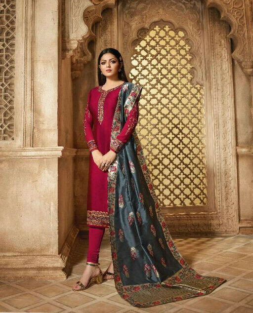 Superb Embroidered Pink Color Beautiful Salwar Kameez