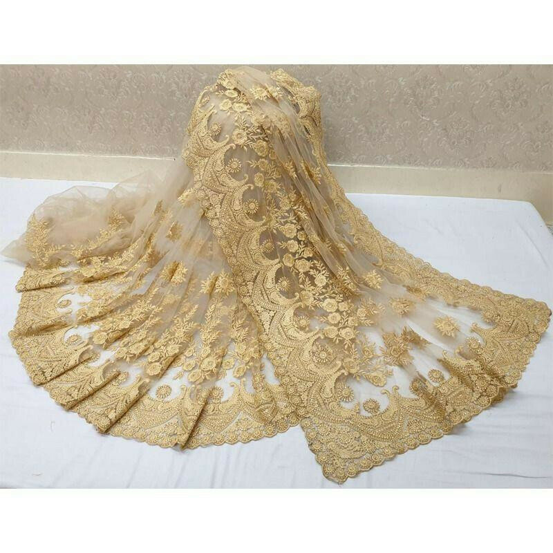 Wedding Designer Chiku Soft Net Stone Work Saree