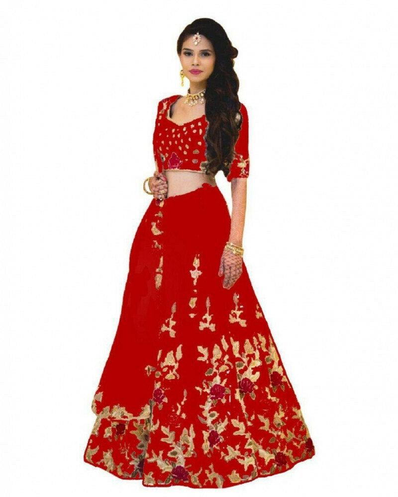 Wedding Wear Stunning Red Lehenga Choli