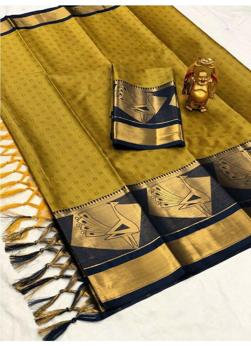 Yellow Cotton Silk Paithani Saree