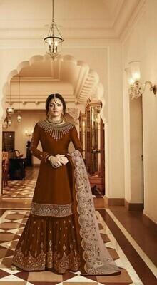 Maroon Color Sharara Suit In Surat