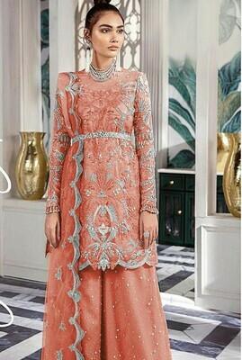 Designer Sequin Work Sharara Suit