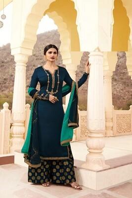 Prachi Desai Satin Georgette  Anarkali Suit