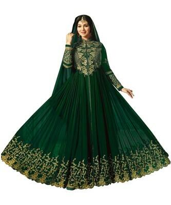 Ayesha Takia Designer Faux Georgette Wine Heavy Embroidered Salwar Suit