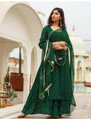 Georgette Dress With Embroidery Work
