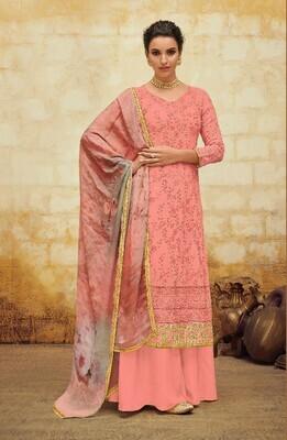 Pink Color Georgette Suit