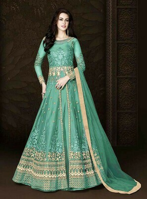 Designer Gorgeous� Stylish Light Green Color Suit