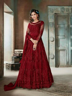 Designer Stylish Preferable Red Color Suit