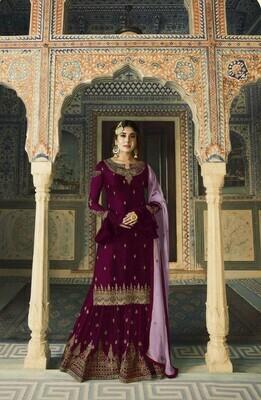 Ethnic Unique Wonderful Purple Color Suit