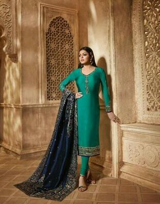 Beautiful Rama Color Salwar Suit Collation