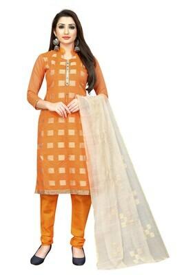 Orange Color Printed Salwar Suit