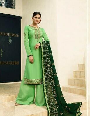 Wedding Wear Parrot Colour Salwar Suit
