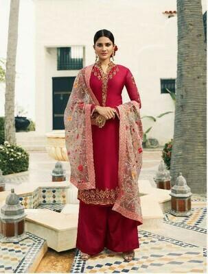 Party Wear Pink Colour Salwar Suit