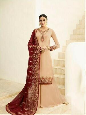 Cream Colour Festival Wear Salwar Suit