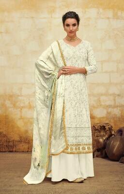 New Stylist White Color Georgette Salwar Suit