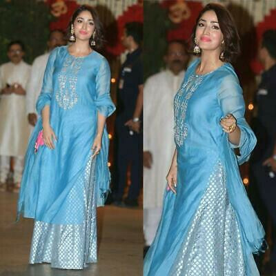 Bollywood  Sky Blue Color Georgette Palazzo Suit