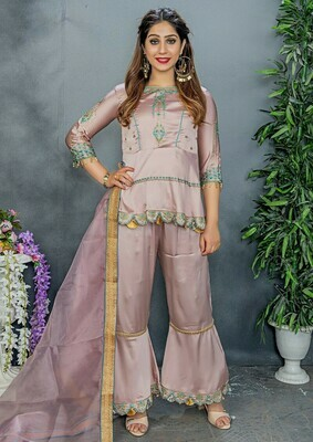 Fancy New Crepe Color Party Wear Embroidery  Salwar  Suit