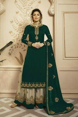 Heavy Embroidery Charming Green Color Party Wear Lehenga