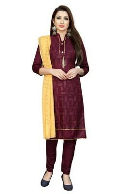 Maroon Color Party Wear Salwar Suit