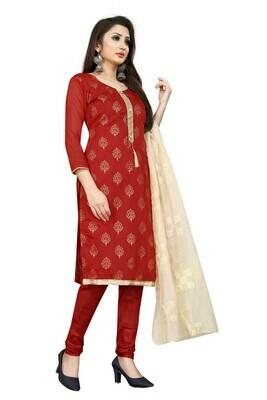 Latest Red Color Party Wear Salwar Suit