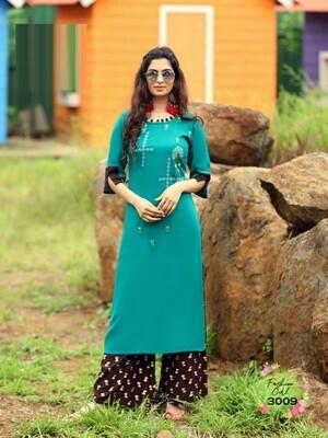 Rama Color Palzzo Suit
