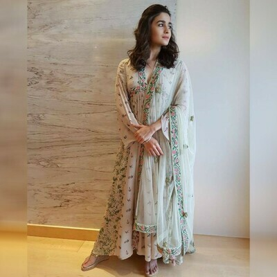 Grey Color Weeding Bollywood Suit