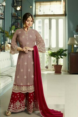 Stunning Wonderful Brown Color Suit