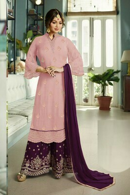 Stylish Stunning Pink Color Suit