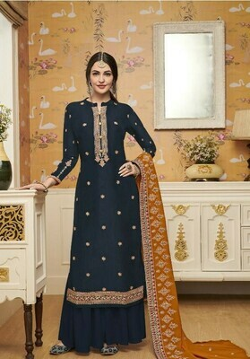 Stylish Designer Stunning Dark Green Color Embroidery Work Party Wear Suit