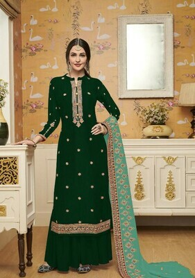 Ethnic Wonderful Stunning Navy BlueColor Embroidery Work Party Wear Suit