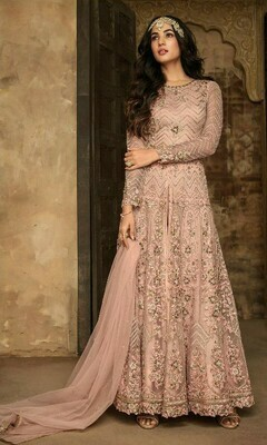 Light Pink  Colored  Anarkali  Suit