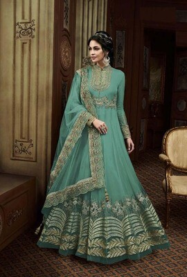 Sophisticated Party Wear  Teal Color Suit