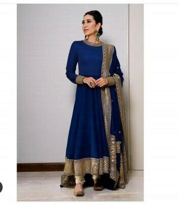 Royal Blue Color Designer Anarkali Suit