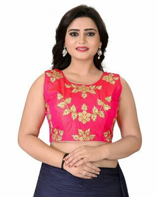 Women Pink Color Round Neck Stitched Blouse
