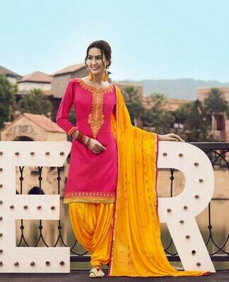 Celebrity Selection Latest Pink Color Patiyala Suit girl special