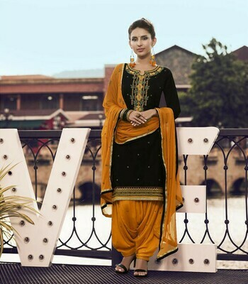 Celebrity Selection Patiyala Suit Embroidery Design girl special