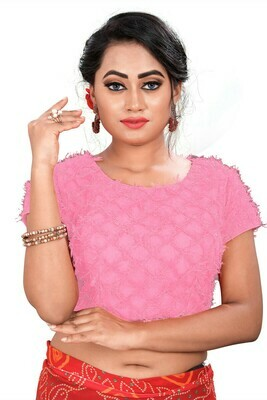Latest  Baby Pink Color Party Wear Banglori Blouse