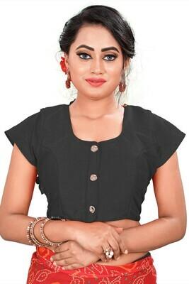 Stylish Black Color Round Neck Women Blouse