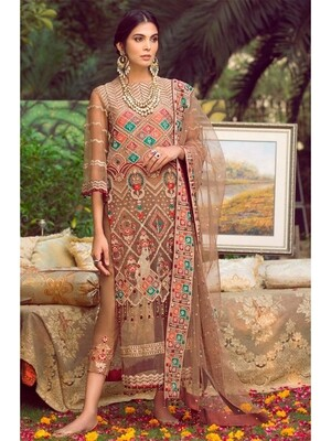 Butterfly Net Heavy Embroidered Pakistani Suit