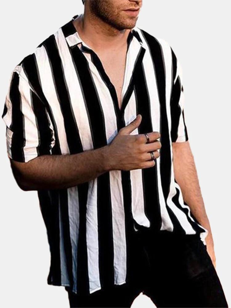 Black men's printed shirt