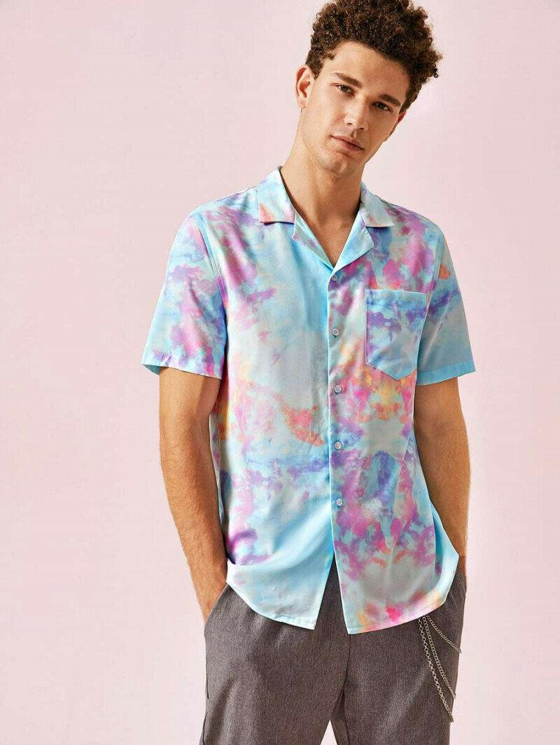 Autumn Multi Color Printing Sleeve Casual Shirt