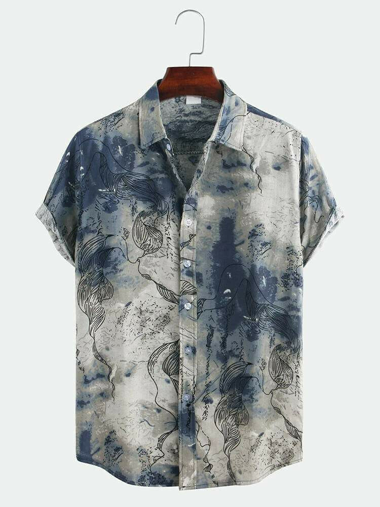 Boys Abstract Printed Half Sleeve Casual Shirts