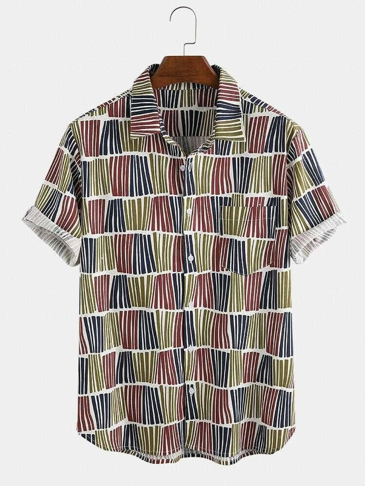 Boys Style Stripe Breathable Half Sleeve Summer Shirt